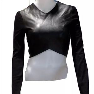 Neiman's Leather Nicholas Long Sleeve Crop Top  0